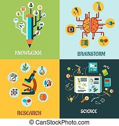 kutatás, lakás, fogalom, elmezavar, tudomány