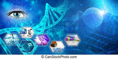 kutatás, orvosi, gyógyszerészeti
