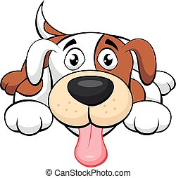 kutya, csinos, karikatúra