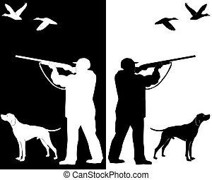kutya, vadász