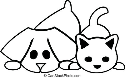 kutyus, macska, kutya, jel