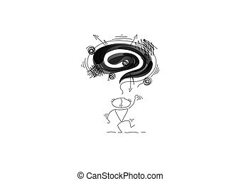 lábak, emotions., felül, kézbesít, lenget, fekete, övé, felhő, stomps, őt, negatív, ember, anger.