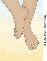lábak, kép, női