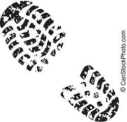 lábfej print