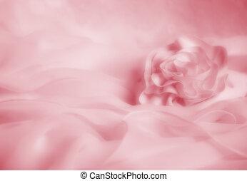 lágy, esküvő, rózsaszínű