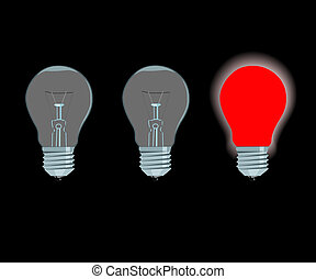 lámpa, elektromos, piros