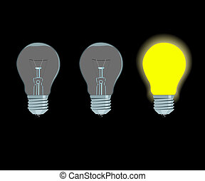 lámpa, elektromos, sárga