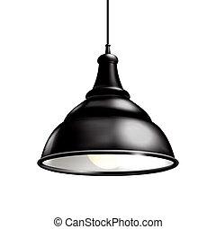 lámpa, fekete