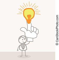 lámpa, gondolat bábu