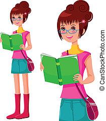 lány olvas