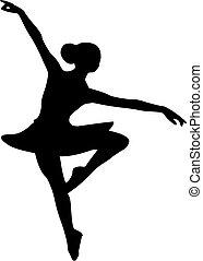 lány táncos, balerina, balett
