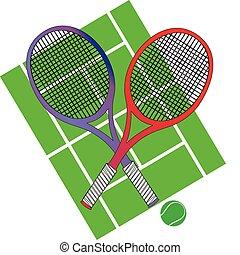 lárma, tenisz