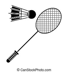 lárma, tollaslabda, tollaslabda, sport, pictogram