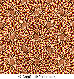 látási, dugóhúzó, illúzió, biciklizik