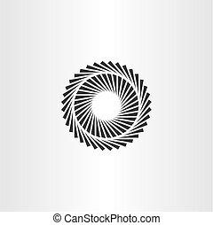 látási, vektor, geometriai, karika, illúzió, ikon