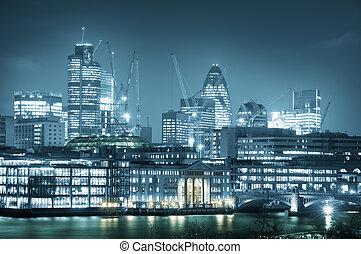 láthatár, london, város