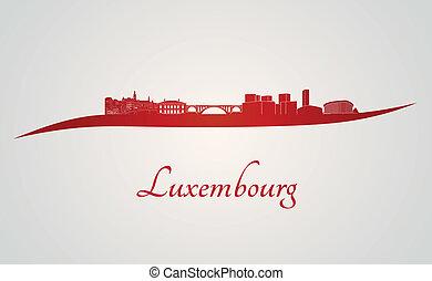 láthatár, luxemburg, piros