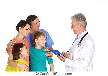 látogató, jó, felfogó, medikus