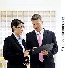 látszó, okmányok, businesspeople