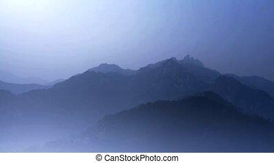 látszó, réteg, hegy., mindenfelé