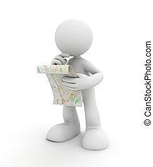 látszó, térkép, ábra, 3