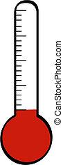 lázmérő, alacsony, hőmérséklet
