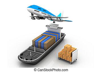 légitársaság, teherhajó
