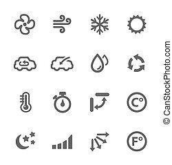 légkondicionálás, ikonok