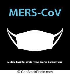 légzési, szindróma, (middle, maszk, mers-cov, higiénia, coronavirus), kelet