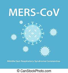 légzési, szindróma, (middle, mers-cov, coronavirus), kelet