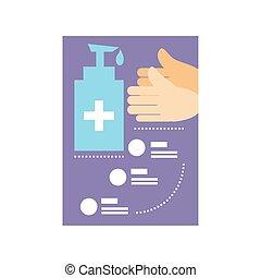 lépés, coronavirus, alapvető, sablon, ellen, oltalmazó, infographic