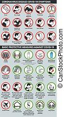 lépés, coronavirus, tünetek, betegség, covid-19, alapvető, oltalmazó