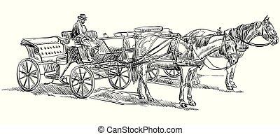 ló, carriage2