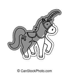 ló, cirkusz, karikatúra