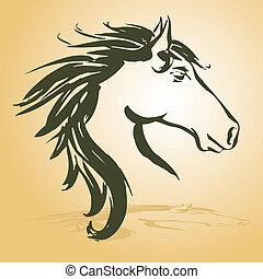 ló, fej