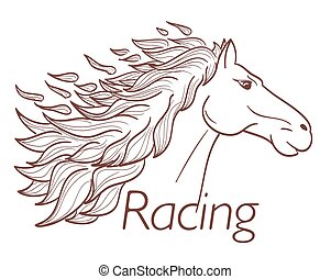 ló fut, jelkép