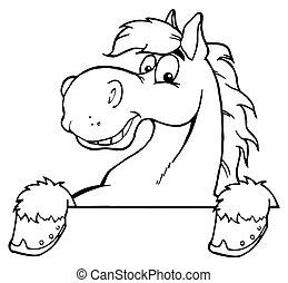 ló, körvonalazott