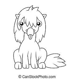 ló, karikatúra