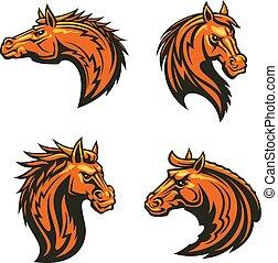 ló, mérges, csődör, vad, amerikai félvad ló, szerencsetárgy