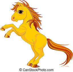 ló, sárga