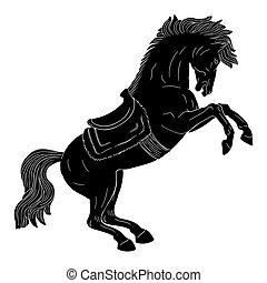 ló, saddle.
