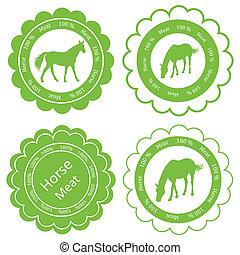 ló, szerves, hús, tanya, elnevezés, ábra, élelmiszer