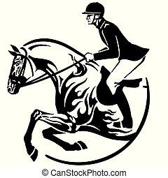 ló ugrás, embléma, előadás