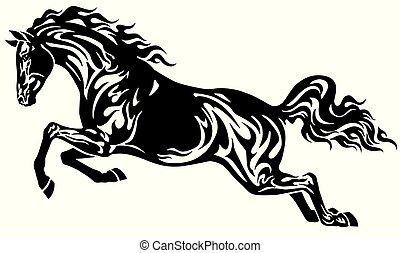 ló ugrás, fekete