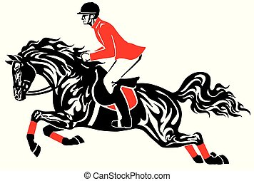 ló ugrás, lovaglási