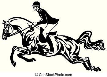 ló ugrás, törzsi, előadás