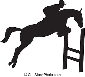 ló, vektor, árnykép