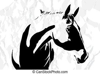 ló, vektor