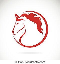 ló, vektor, tervezés, háttér, arcmás, fehér