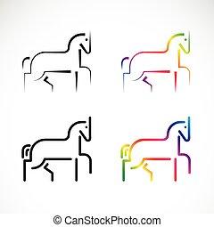 ló, vektor, tervezés, white háttér